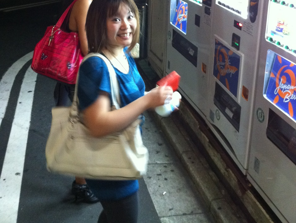 Hitting up the vending machines Toshima Ku  Japan