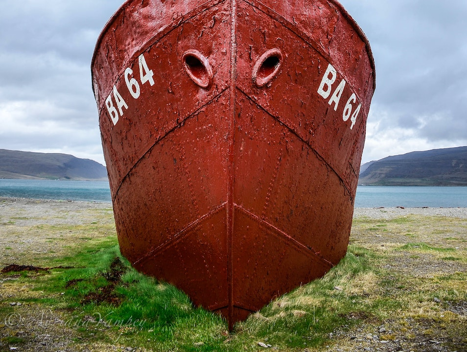 Oldest steel ship in Iceland  Westfjords  Iceland