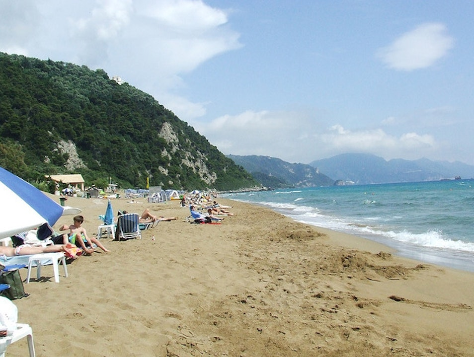 The Best Beach on Corfu Island Glifada  Greece