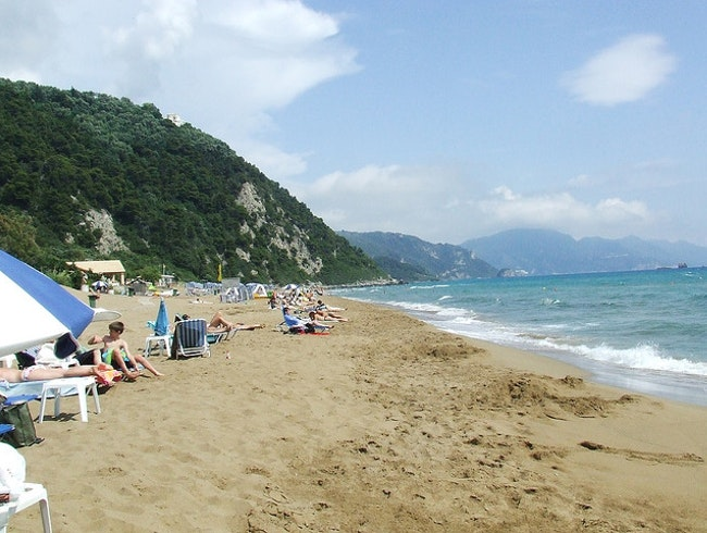 The Best Beach on Corfu Island