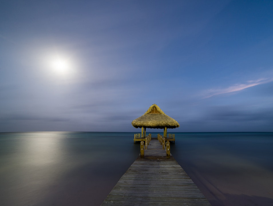Full Moon Night Swimming Punta Cana  Dominican Republic