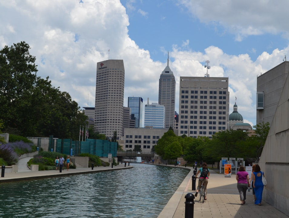 Walk, Bike, or Paddle the Downtown Canal Indianapolis Indiana United States