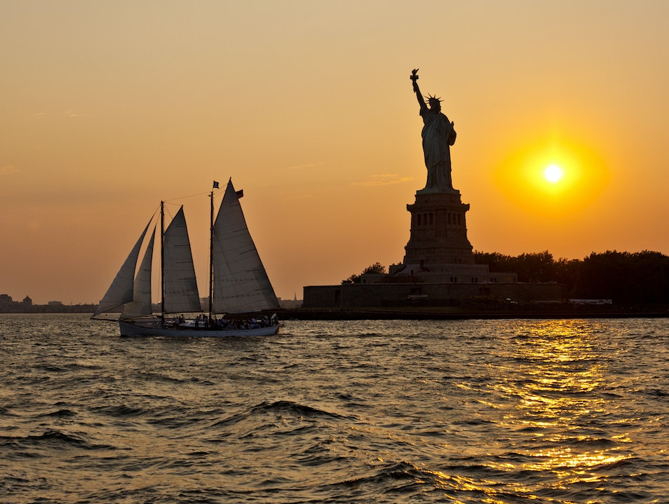 Sunset on Lady Liberty New York New York United States
