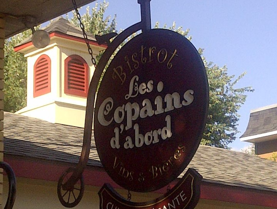 Bistro Dining at Les Copains d'abord Mont Tremblant  Canada