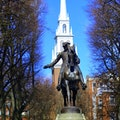 Paul Revere Mall Boston Massachusetts United States