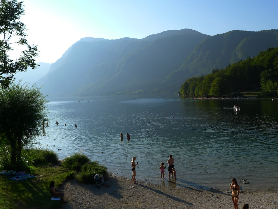 Swimming in Slovenia's Largest Lake Stara Fužina  Slovenia