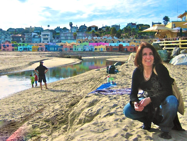 Capitola Beach Painted Houses