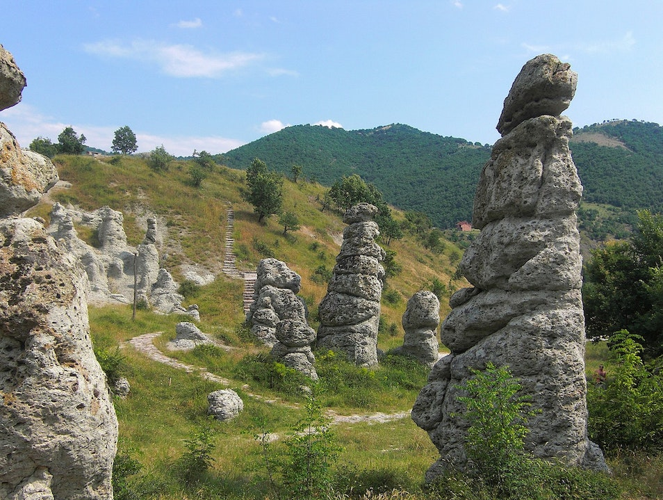 Visiting the Kuklica stone dolls Kratovo  Macedonia (FYROM)