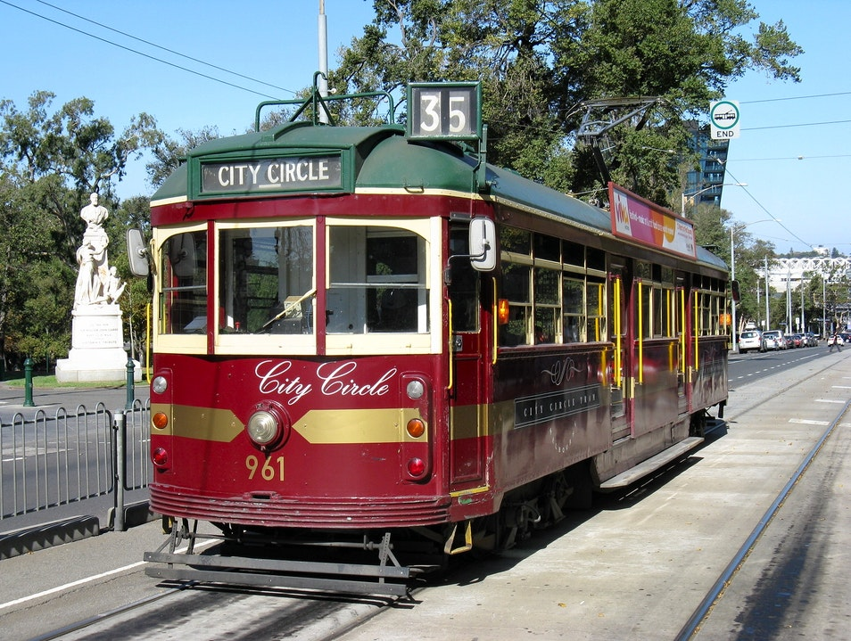 Hop a Ride on the Free City Circle Tram Melbourne  Australia