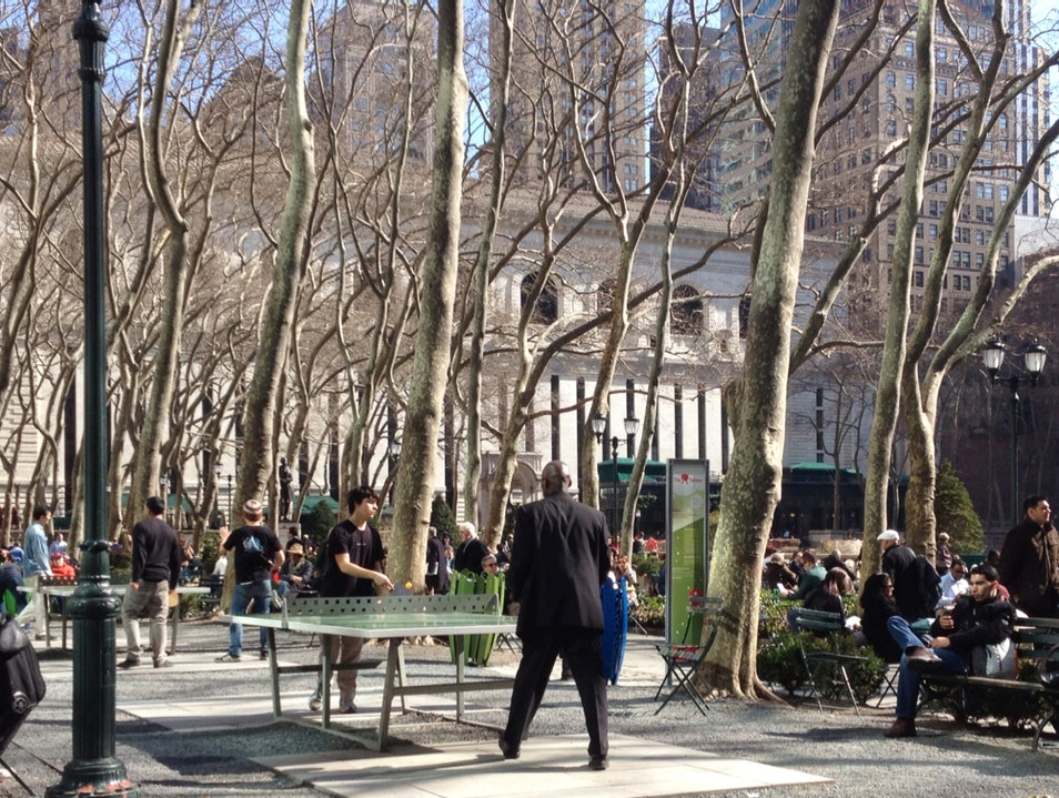 Recess In Bryant Park New York New York United States