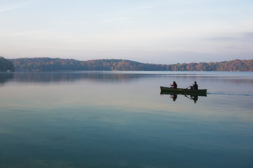 Elkhart Lake offers some great canoeing opportunities.