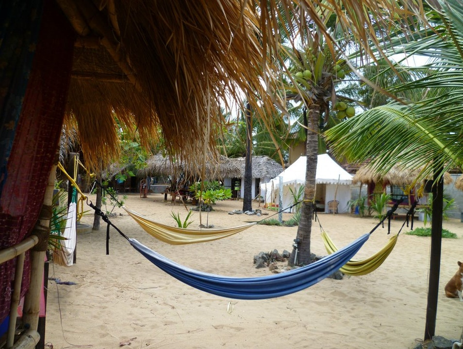 Sleep in a folly beachside in Arugam Bay
