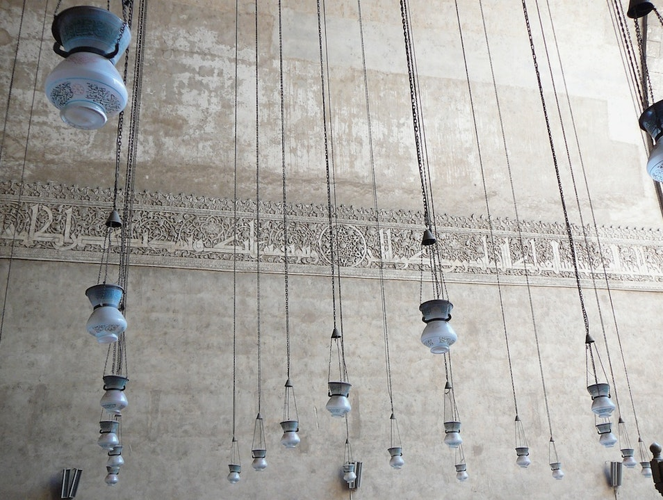 Lamps of Sultan Hassan Mosque Cairo  Egypt