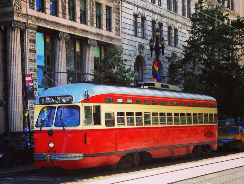 San Francisco's famous cable cars (from other cities!) San Francisco California United States