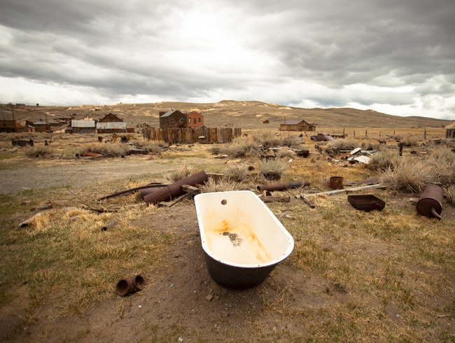Take a Bath in Bodie, a California Ghost Town