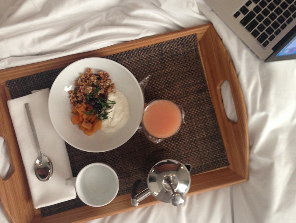 Post-Run Breakfast in Bed San Francisco California United States