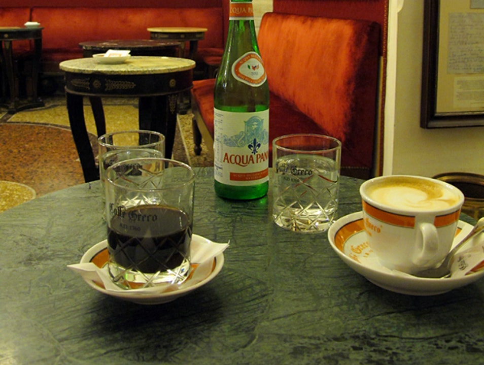 Coffee at the oldest café in Rome Rome  Italy