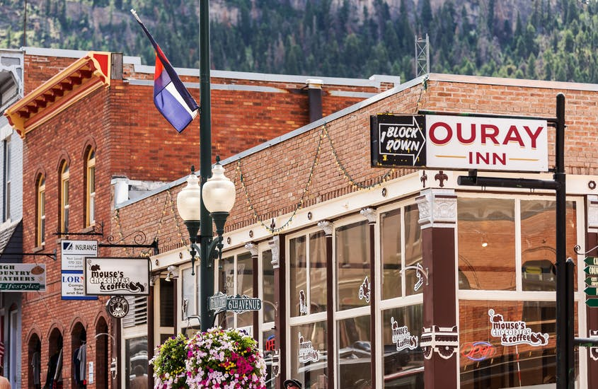 Downtown Ouray, Colorado, is known for its myriad independent shops and eateries.