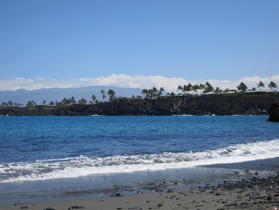 Snorkeling at Black Sand Beach Near Mauna Lani Kamuela Hawaii United States