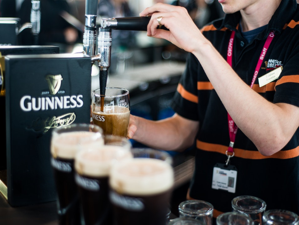 Pull a Fresh Pint, Gravity Bar, Guinness Storehouse, Dublin, Ireland. Dublin  Ireland