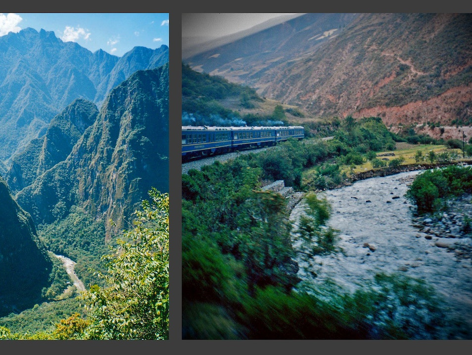train along the Urubamba Urubamba  Peru