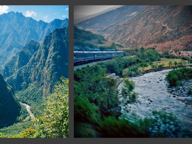 train along the Urubamba