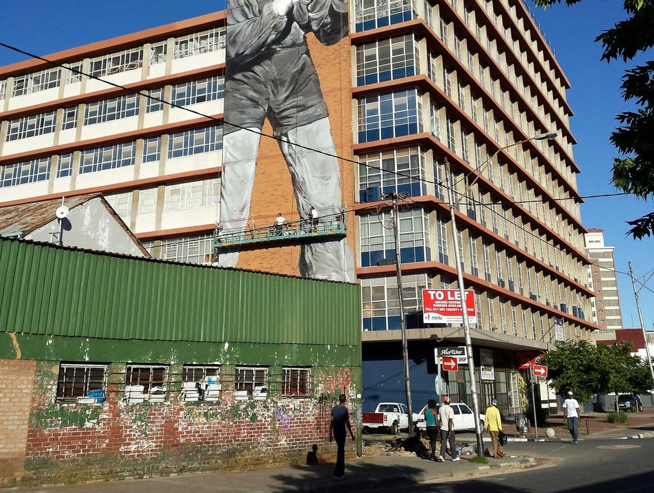 See the 9-Story-High Mural of Madiba in His Heyday Johannesburg  South Africa