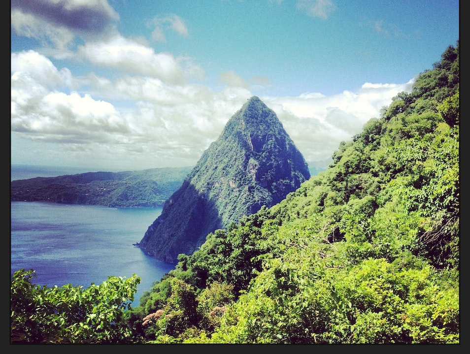 Piton Mountains of St. Lucia Soufriere  Saint Lucia