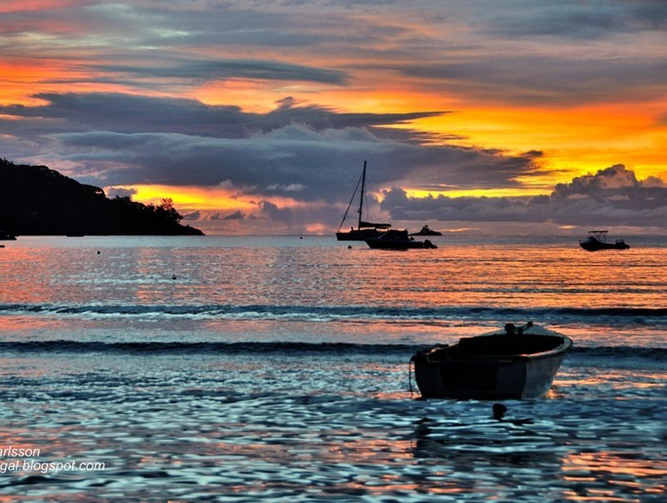 Sunset from the Beach, Mahé, Seychelles