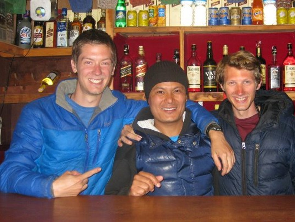 Go For a Drink at High Altitude Khumjung  Nepal