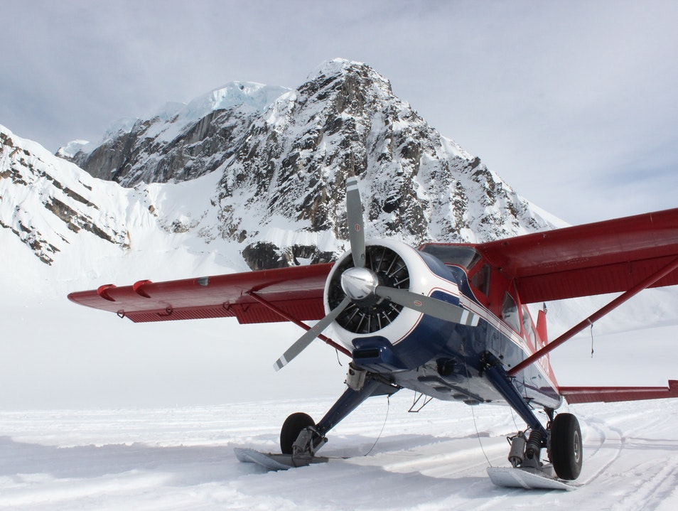 Landing On A Glacier, On Top Of The World Talkeetna Alaska United States