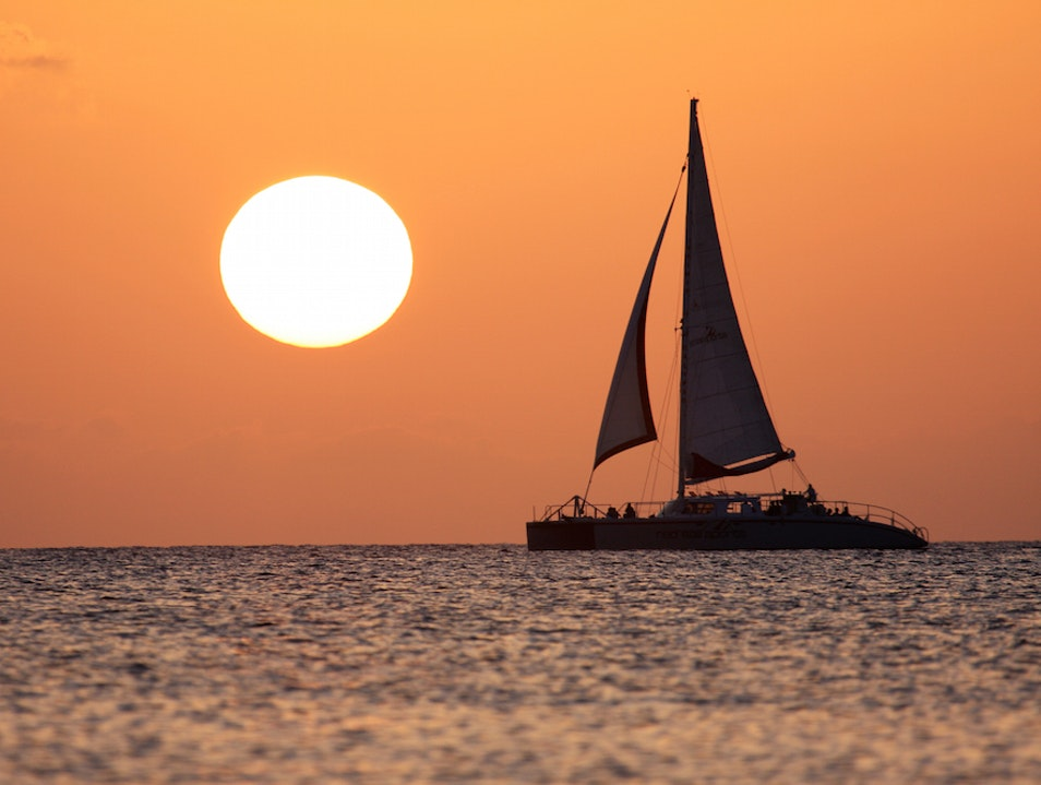 Take a Catamaran to Dinner    Cayman Islands