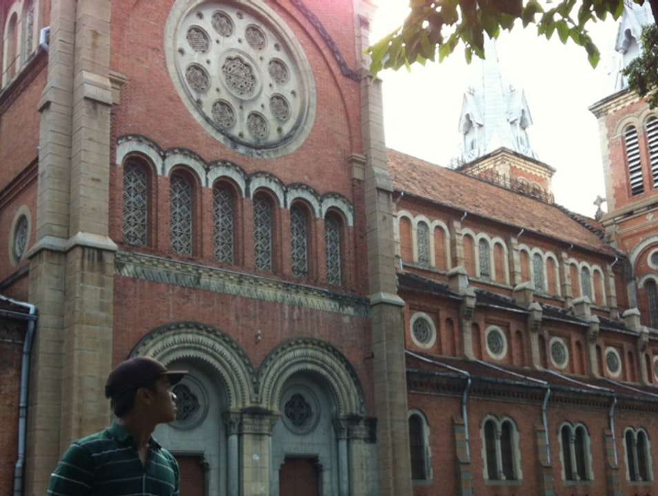 Spain influenced cathedral at the centre of Saigon Ho Chi Minh City  Vietnam