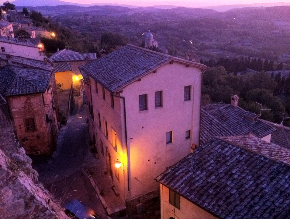 An incredible sunset from Locanda San Francesco  Montepulciano  Italy