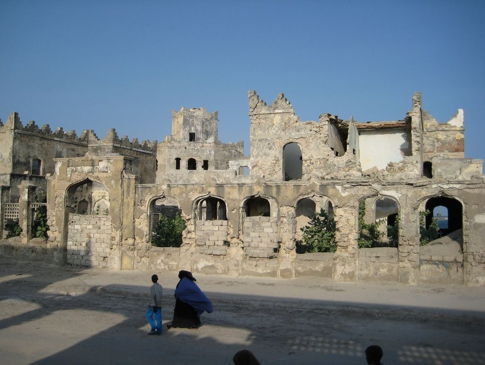 Ruins of ancient buildings Mogadishu  Somalia