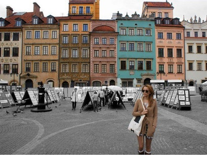 Old Town Market Place Warsaw  Poland