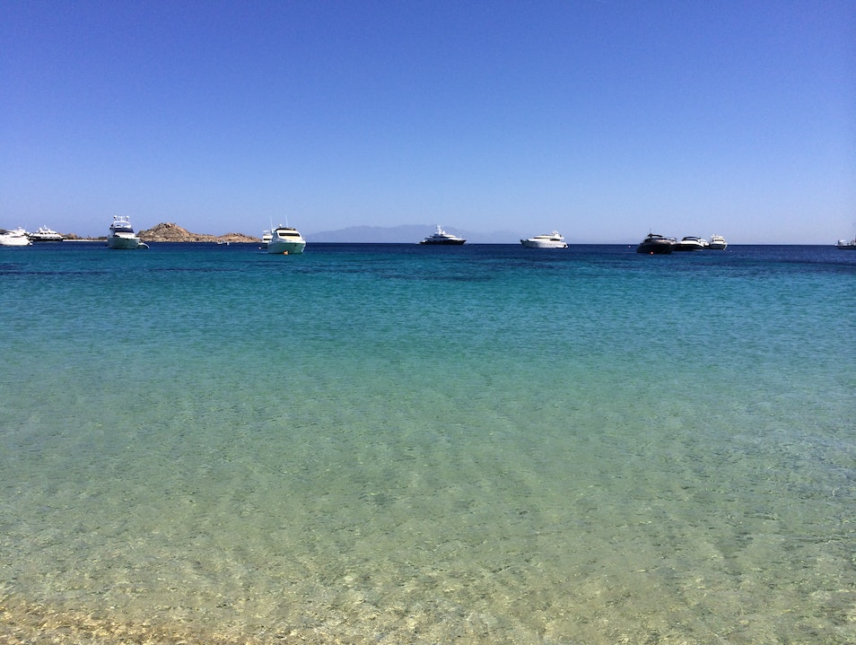 Best Beach in Mykonos Psarrou  Greece