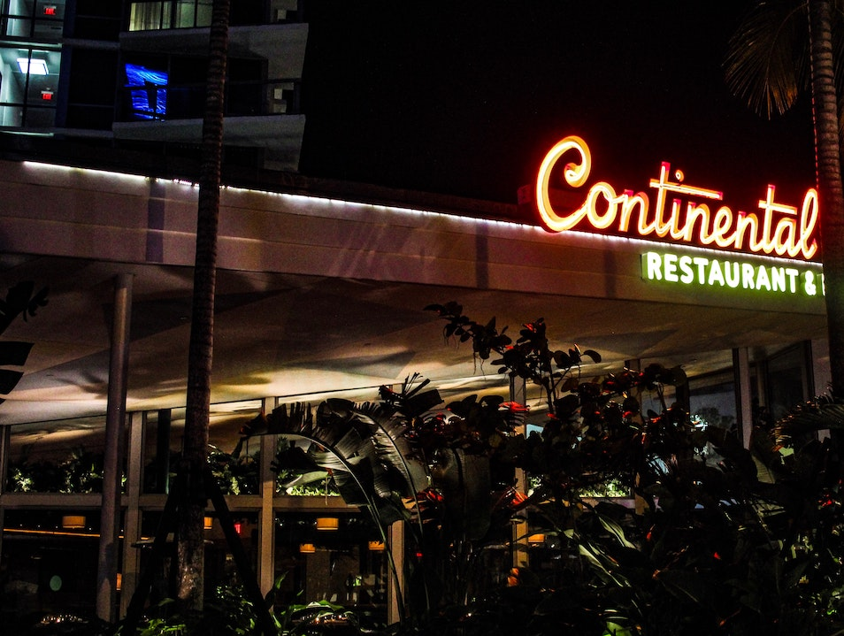 Stephen Starr's Retro-Inspired Continental Inspires South Beach Diners  Miami Florida United States