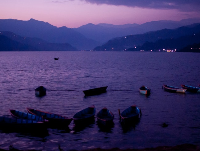 Phewa Lake Sunset Paddle, Pokhara Valley, Kaski District, Nepal.