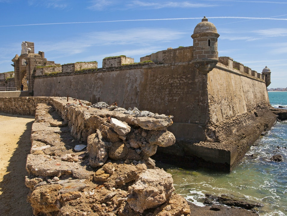 Castles of Santa Catalina and San Sebastián Cadiz  Spain
