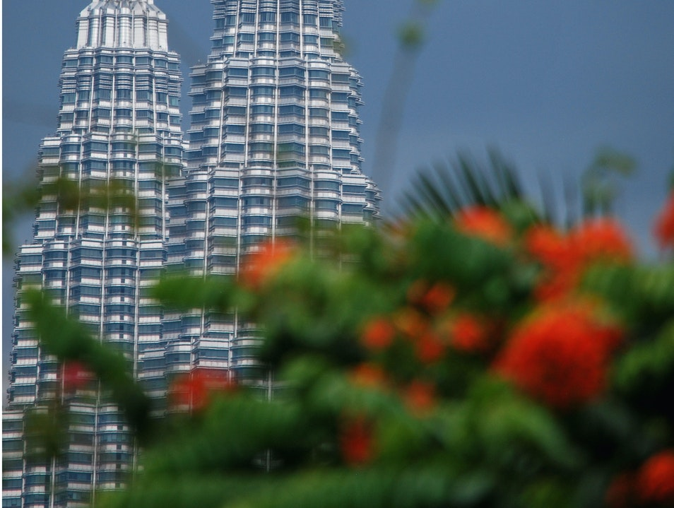 View of Petronas Towers from the Colonial District Kuala Lumpur  Malaysia