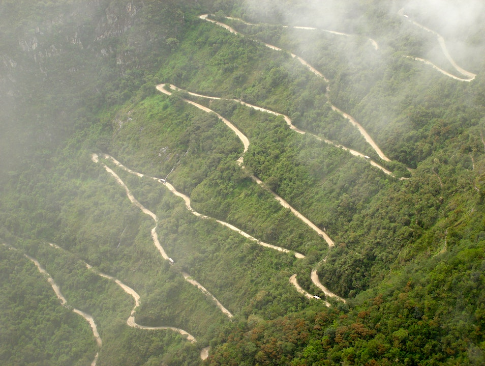 A long windy road to Machu Picchu Urubamba  Peru