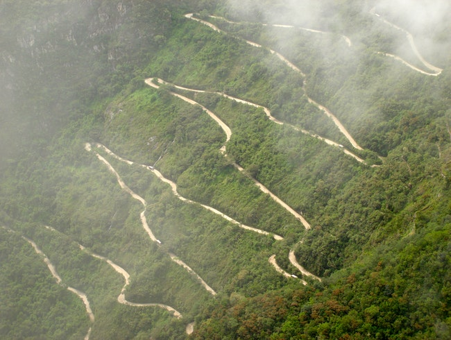 A long windy road to Machu Picchu