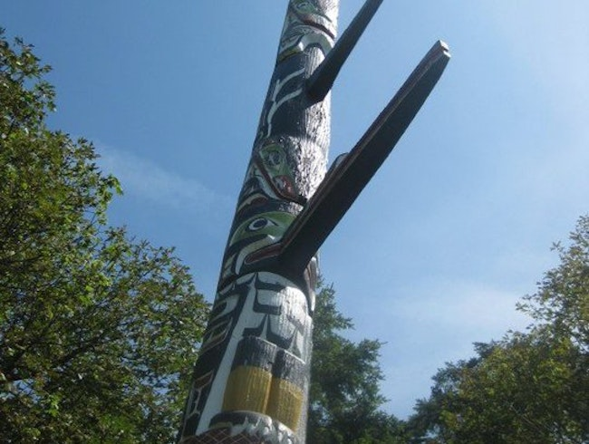 The Largest Totem Pole in Canada