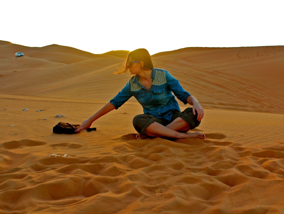 With Toes Dipped in Golden Sand Dubai  United Arab Emirates