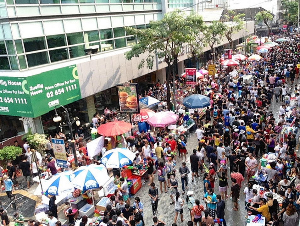 Songkran in Silom