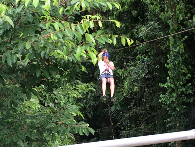 Pacuare Lodge is secluded and only accessible via river raft. Gigantic individual suites set 100 yds apart with four post beds with netting, great food, service, adventure !
