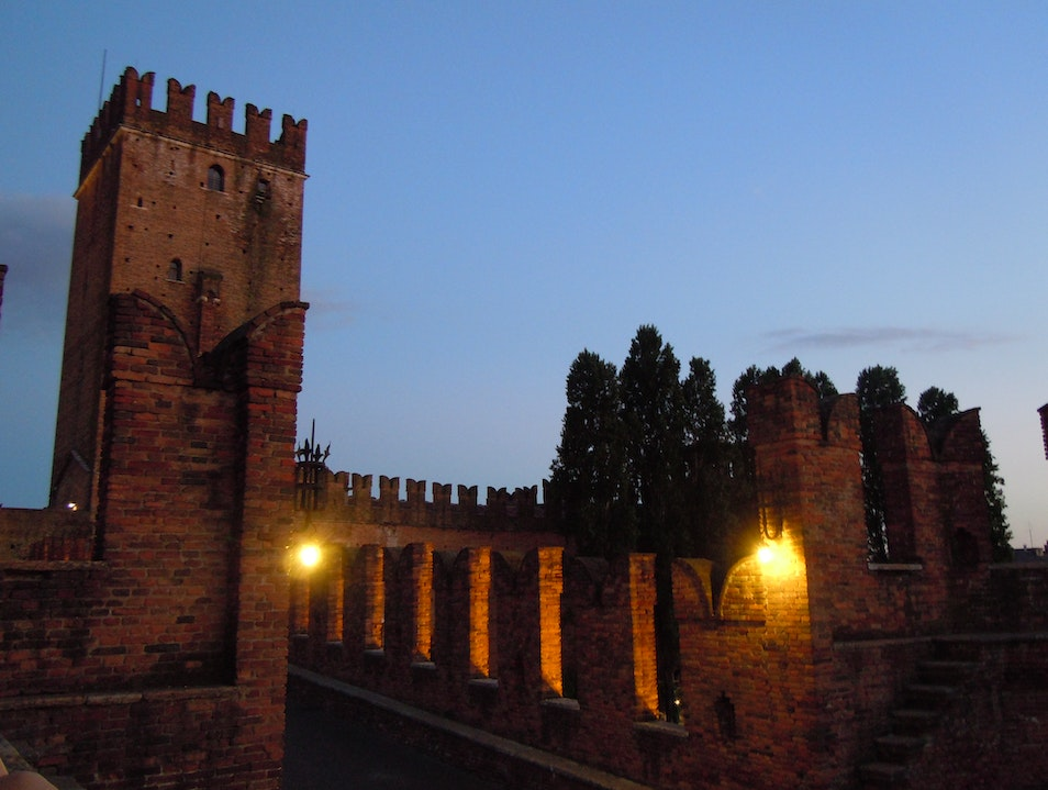 A Bottle of Red and a Castle Verona  Italy