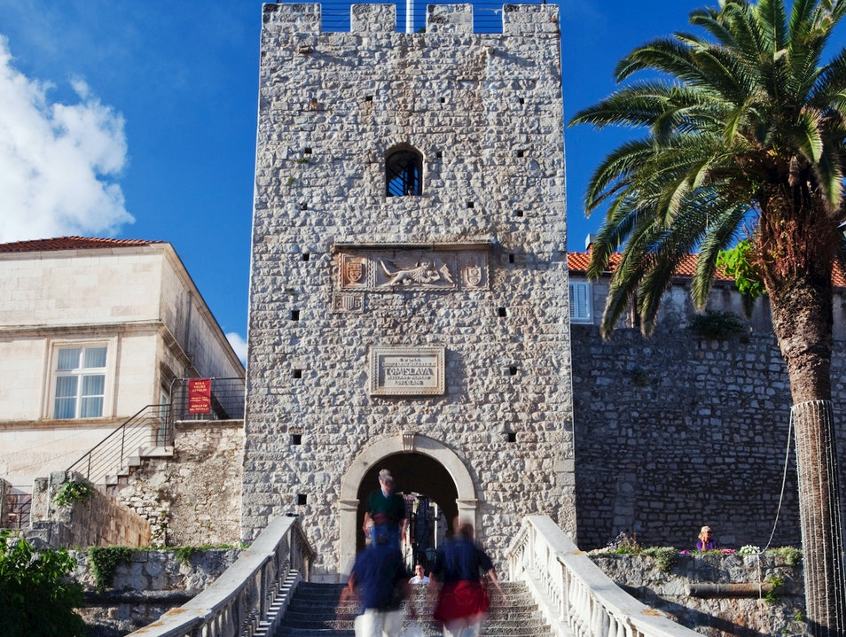 Revelin Tower and Land Gate Korčula  Croatia