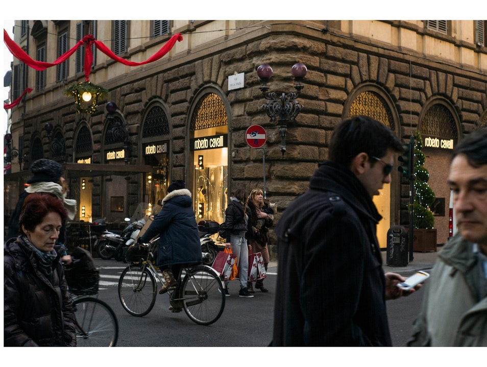 Best coffee in Florence and a lovely Clet piece right in front to boot